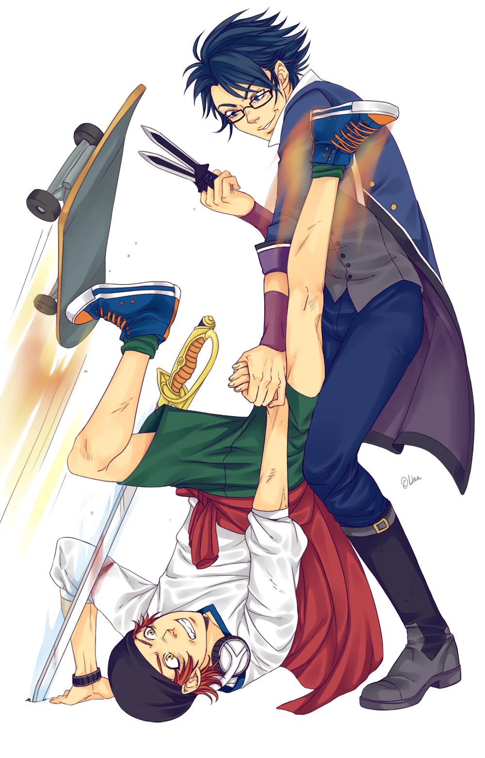 Yata and Saruhiko by LinART