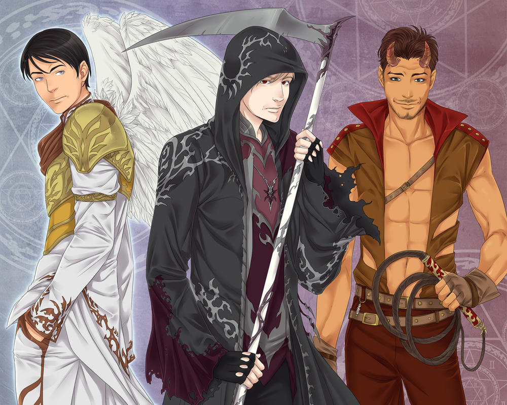 Zachriel, Trystin and Shayde by LinART