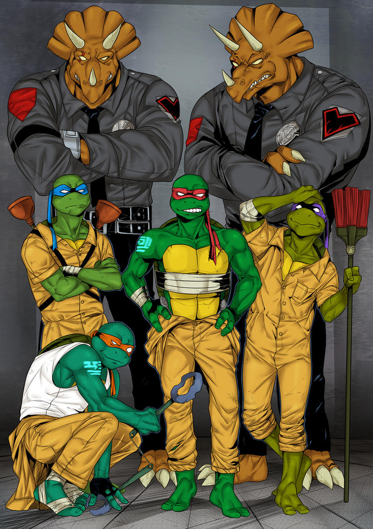 Prison turtles by LinART