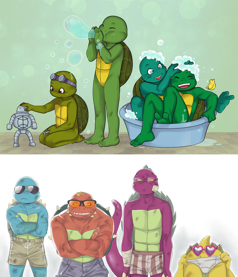 Turtles kids by LinART