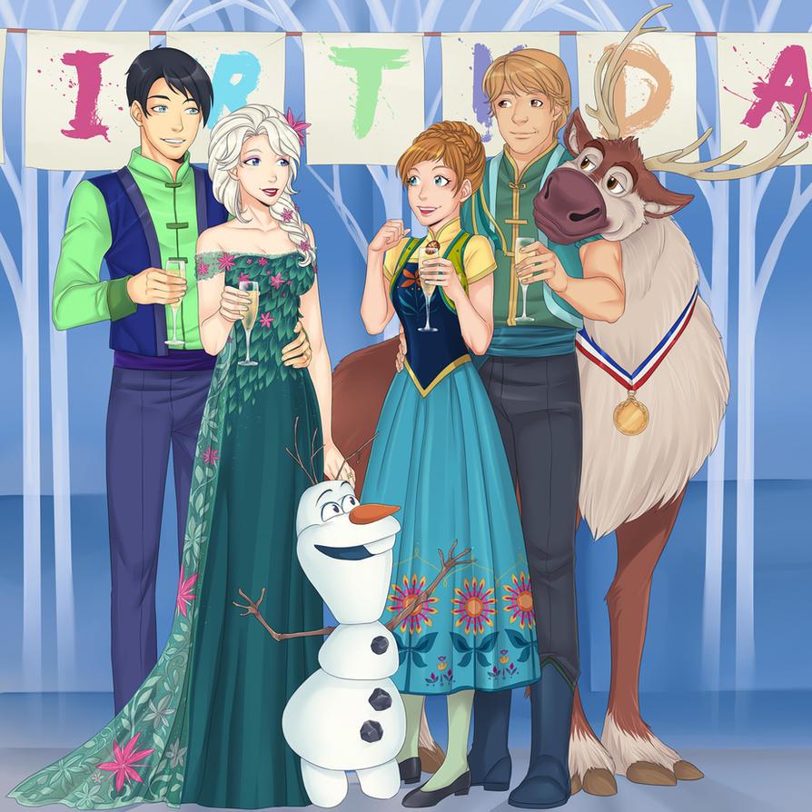 Anna's birthday by LinART