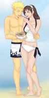 Naruto and Ayame by LinART