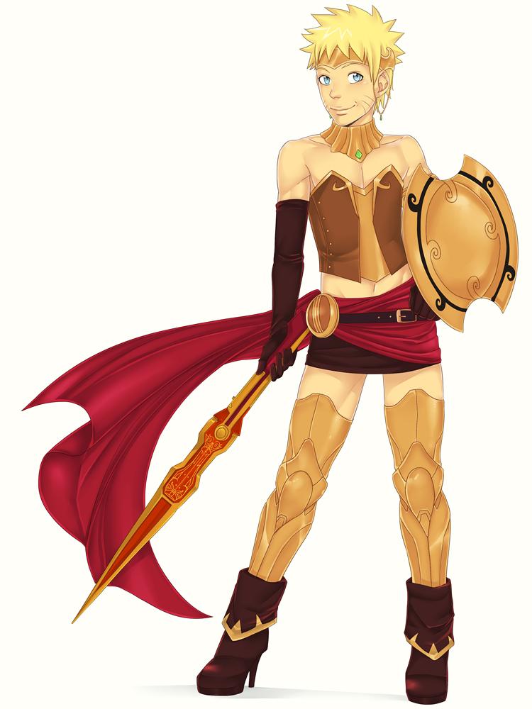 Naruto cross-dressing by LinART