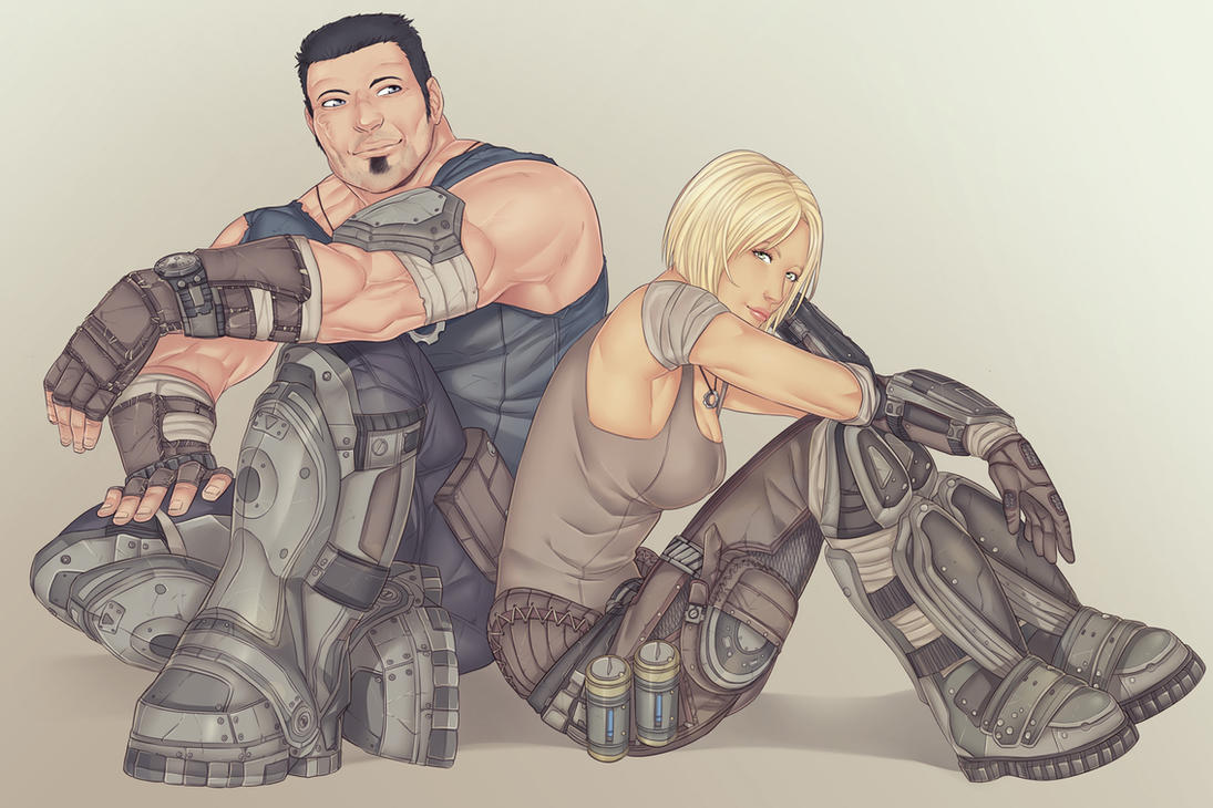 Marcus and Anya by LinART