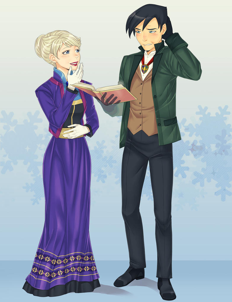 Danny and Elsa by LinART