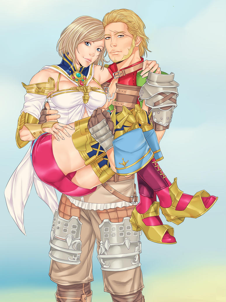 Ashe and Basch by LinART