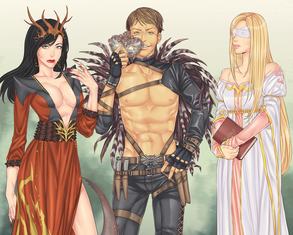 Aria, Beauxx and Harmony by LinART
