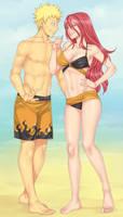 Naruto and Tayuya by LinART