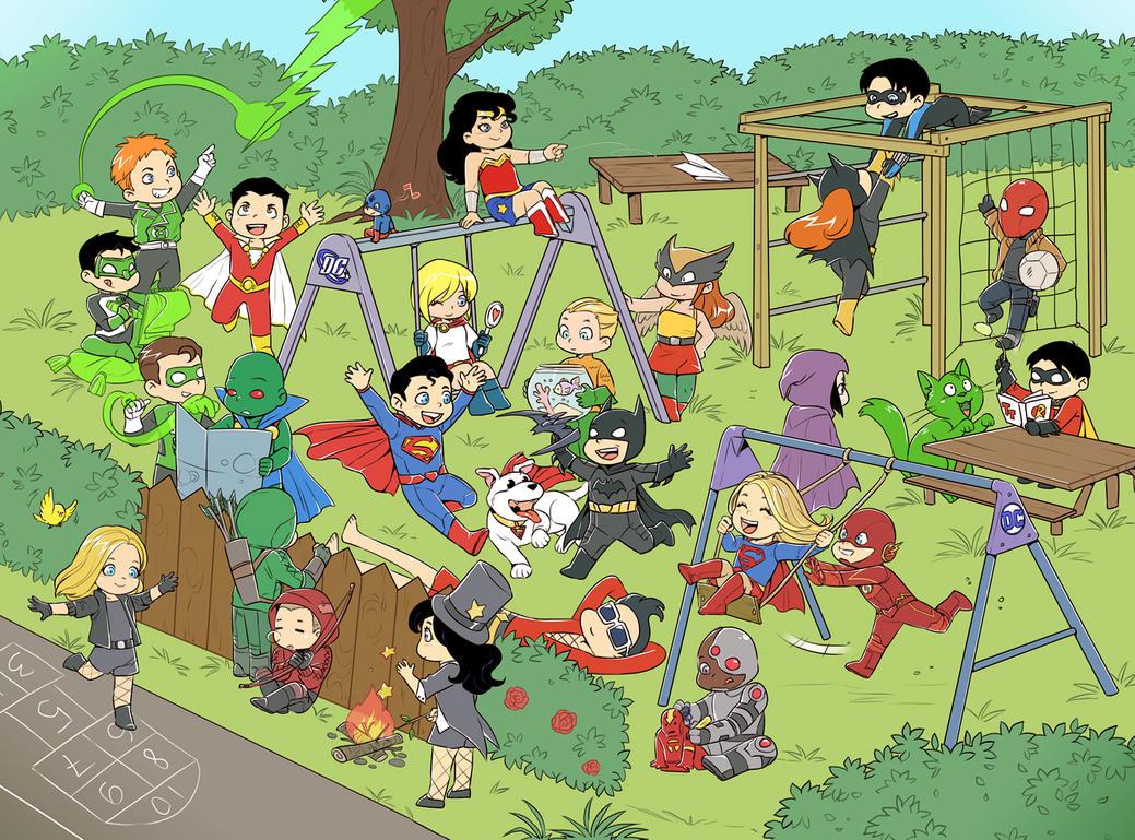 Chibi-Superhero DC by LinART