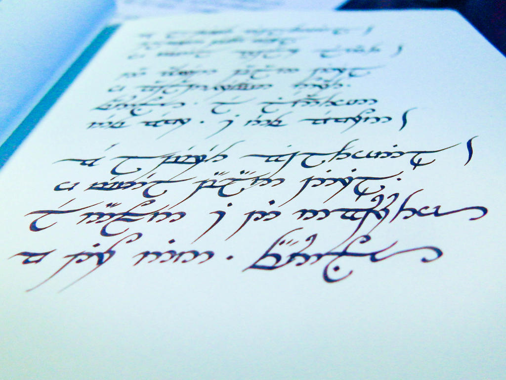 Elvish handwriting