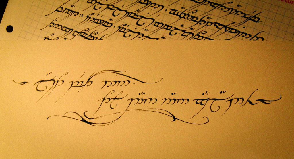 Quenya writing
