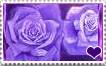I love purple roses stamp by Violette-Aner