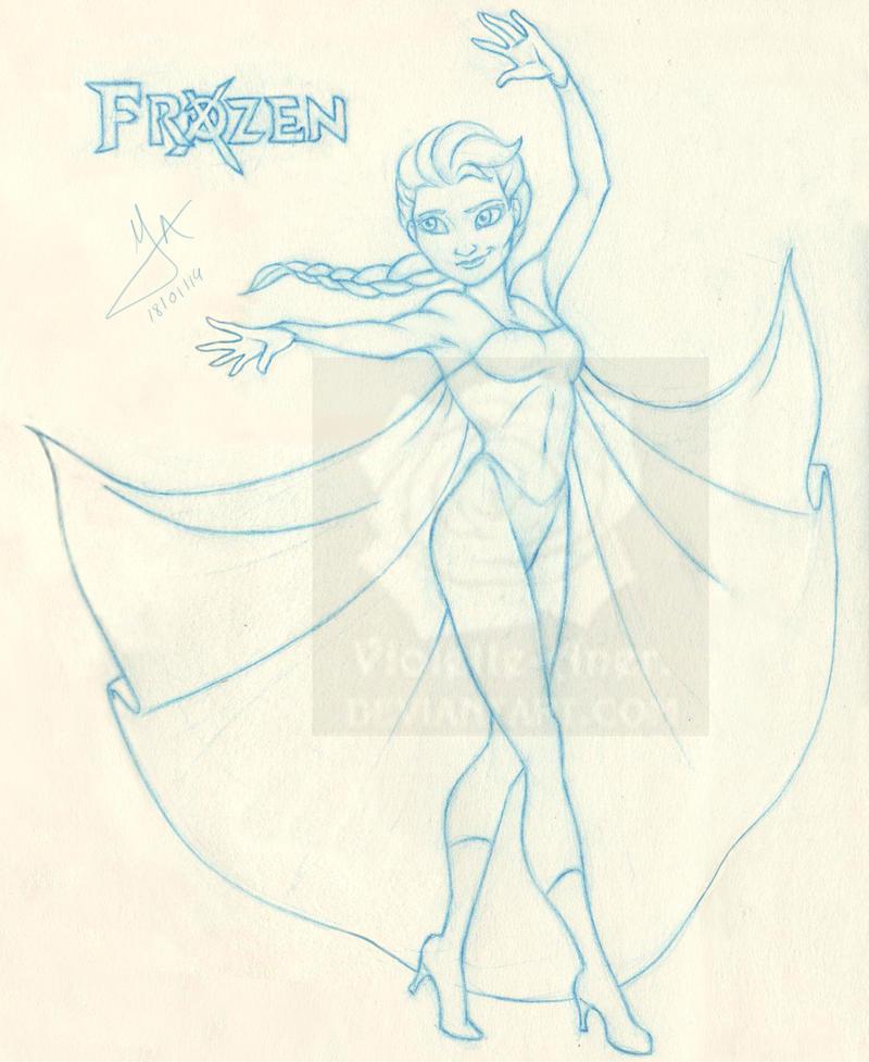 X-Men Elsa by Violette-Aner
