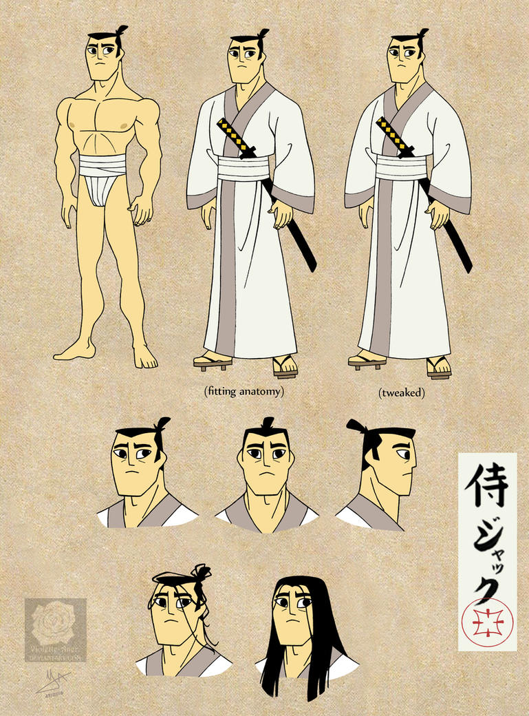 Samurai Jack (sort of) reference sheet by Violette-Aner