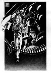 Alien poster by Violette-Aner