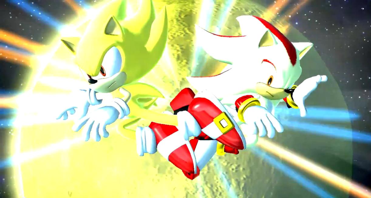 Sonic Generations Super VS Shadow By SonicTheHedgeSantos