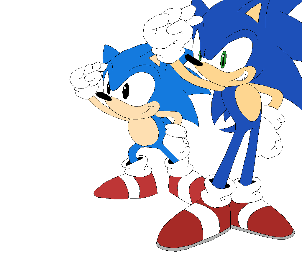Sonic Generations Classic and Modern Sonic by SonicTheHedgeSantos