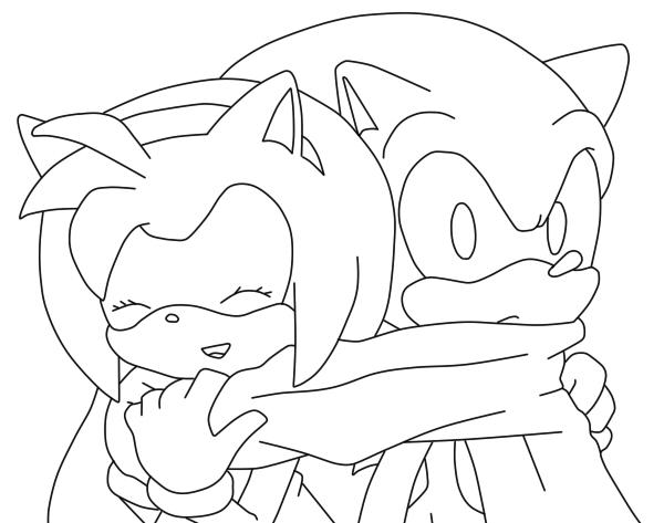 Famoso Amy Rose The Hedgehog Para Colorear Motivo - Páginas Para ...