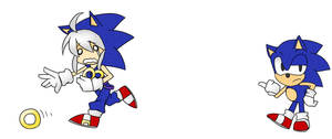 Hatsune Miku and Classic Sonic