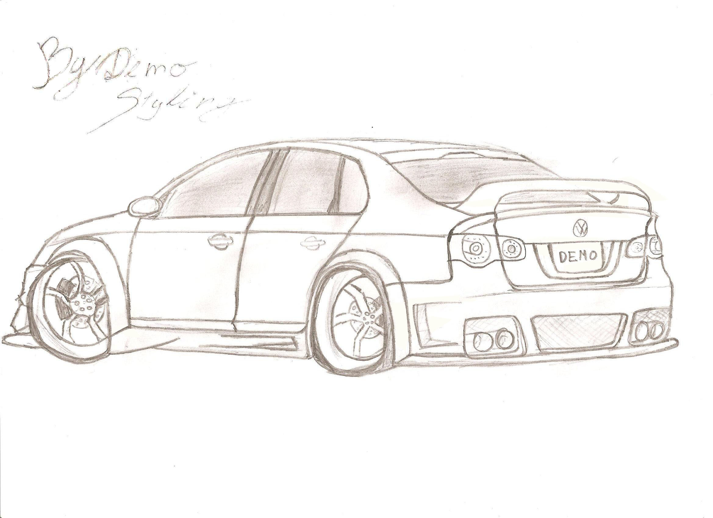 vw jetta coloring images