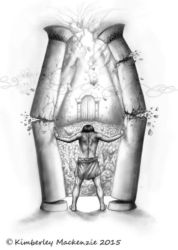 top samson pillars the images for pinterest tattoos. Black Bedroom Furniture Sets. Home Design Ideas