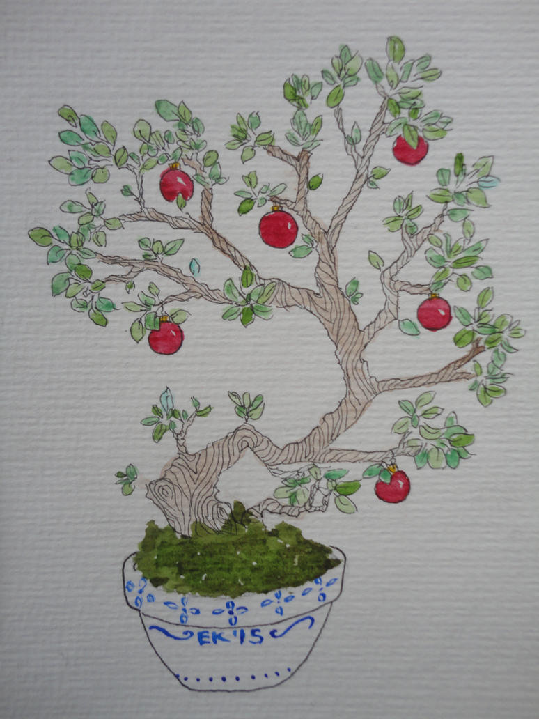 Christmas Bonsai by Traumfaengerin-Wish