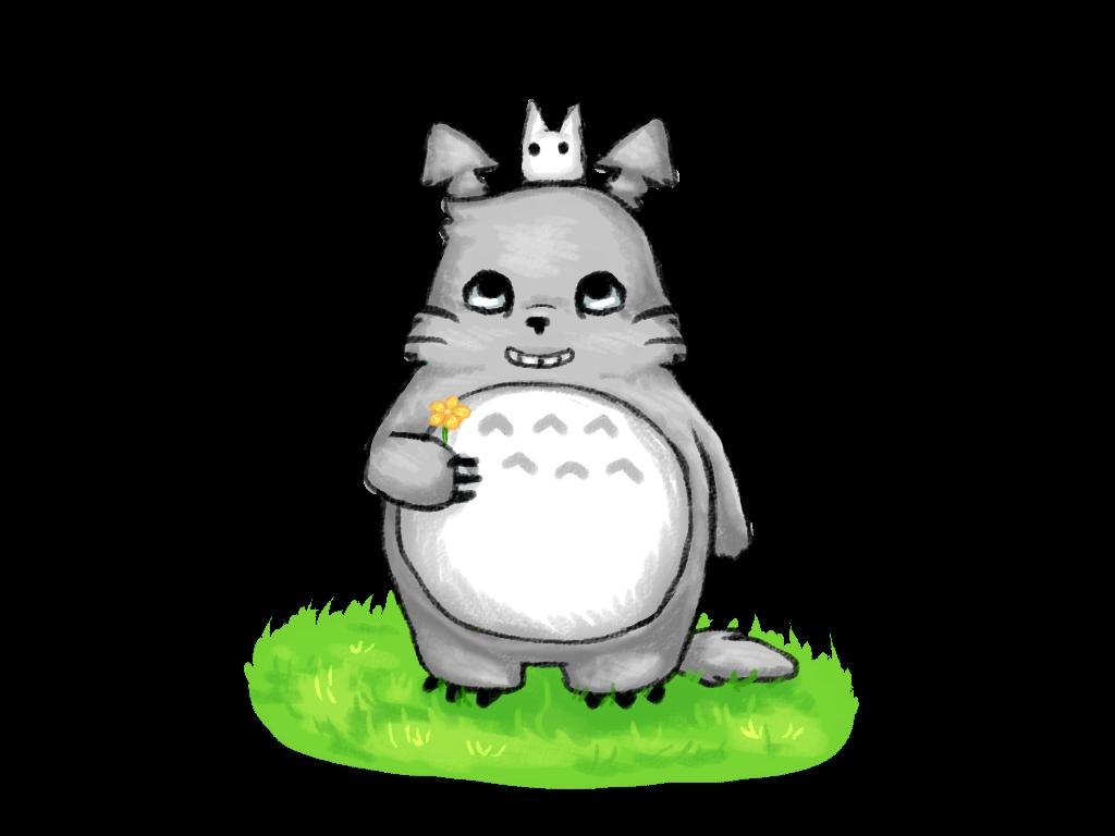 Totoro~A Sunny Day by xXDasMiepXx