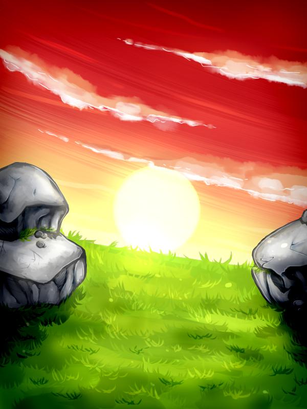 Background Exercise: Sunset by xXDasMiepXx
