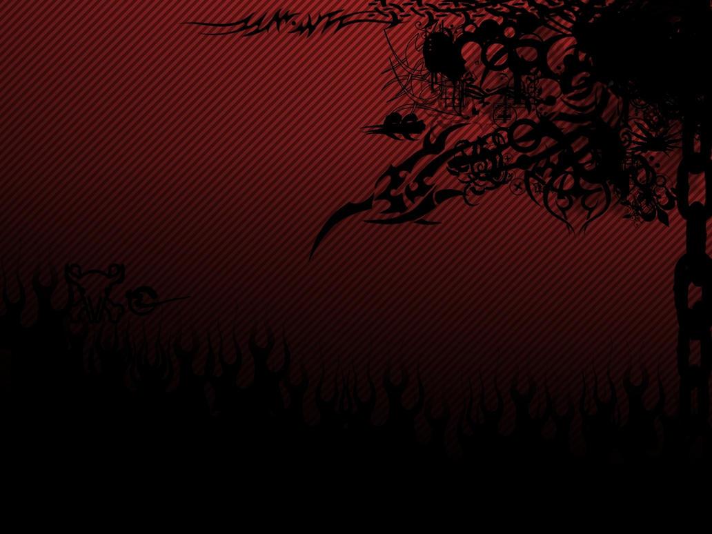 Black Red Wallpaper By V1N3