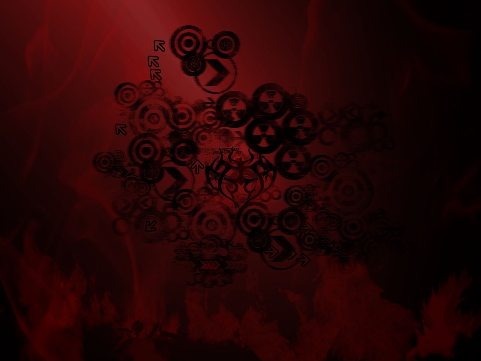 Red and Black Tribal Wallpaper by V1N3 on DeviantArt