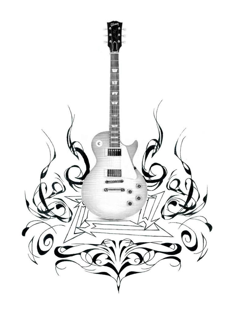 gibson in flames by v1n3 on deviantart