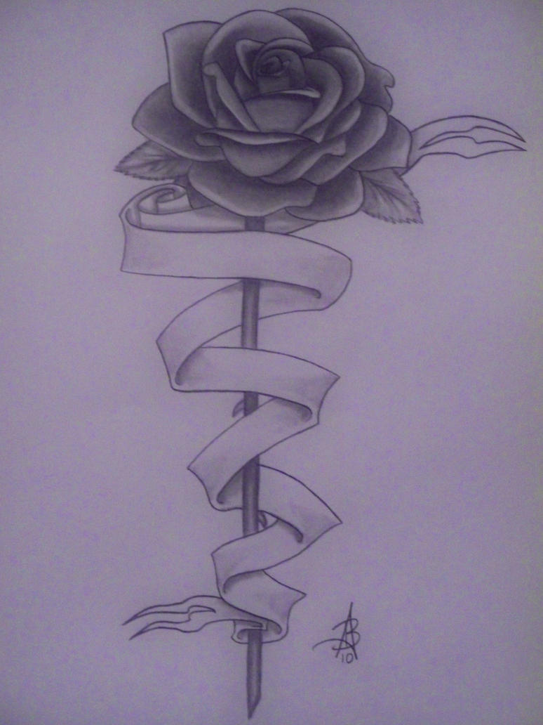 Heart With Rose And Banner: Rose Banner By Wega13 On DeviantArt