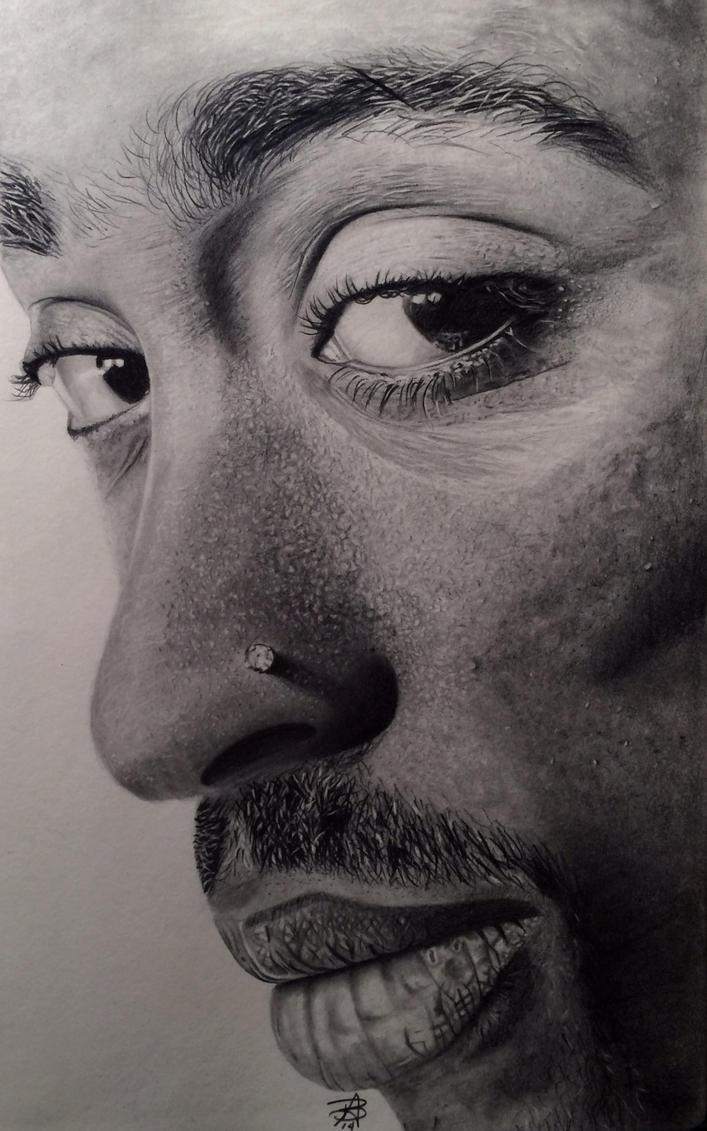 Finished Tupac Shakur drawing by wega13 on DeviantArt