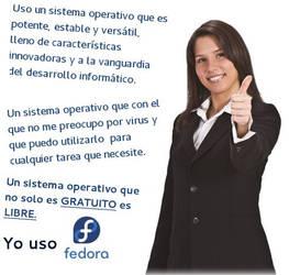 Yo uso Fedora by williamjmorenor