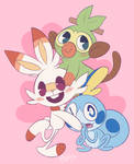 sword and shield starters