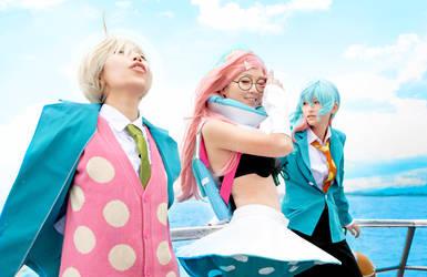 Urara with Coco and Haru