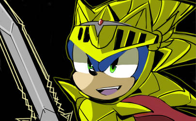 Sonic The Hedgehog On Sonic Knight Of Wind Deviantart