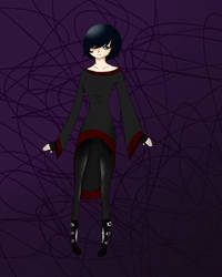 Gothic dress by Lindsfluff