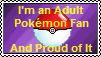 Adult Pokemon Fan's Stamp by RhaedaLeeMire