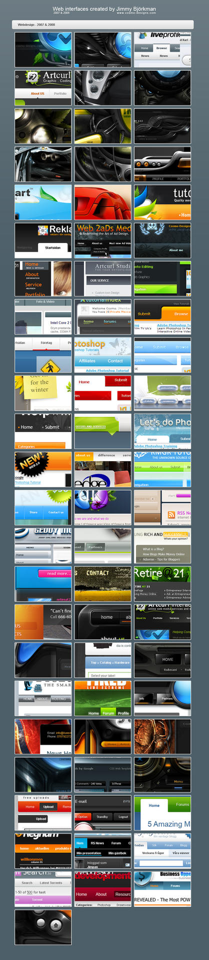 Web interface Collection 07-08 by jimmybjorkman