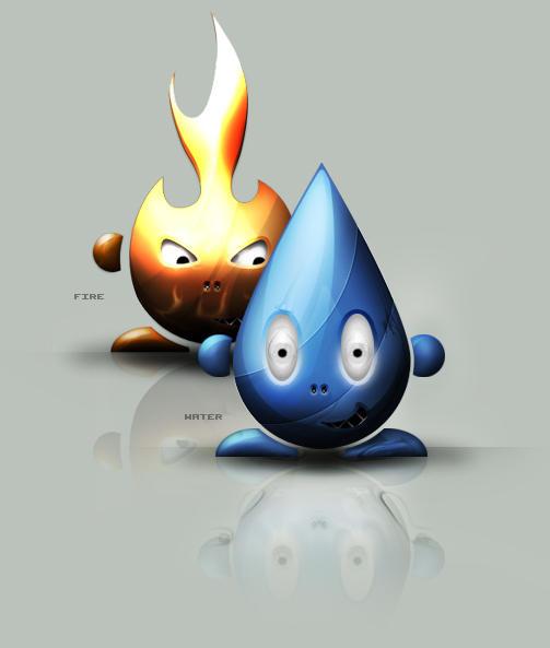 Fire vs water by jimmybjorkman