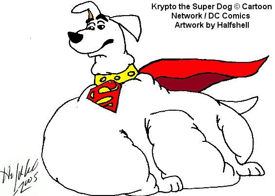 Krypto the Super Dog by Halfshell