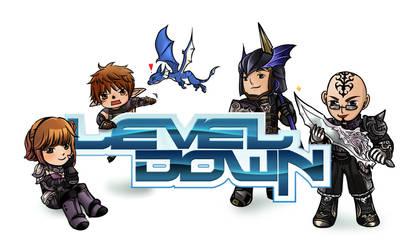 Level Down logo design