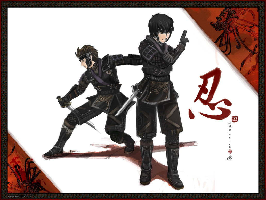 Ninja Duo by lurazeda