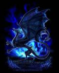 Grimdragon in frozen flames