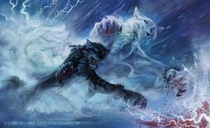Raging Snow Storm by FelisGlacialis