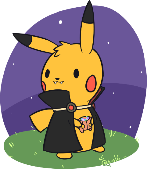 Halloween Pikachu by Juus16