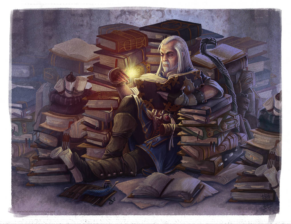 Tons of Knowledge - Ezren from Pathfinder by BiPiCado