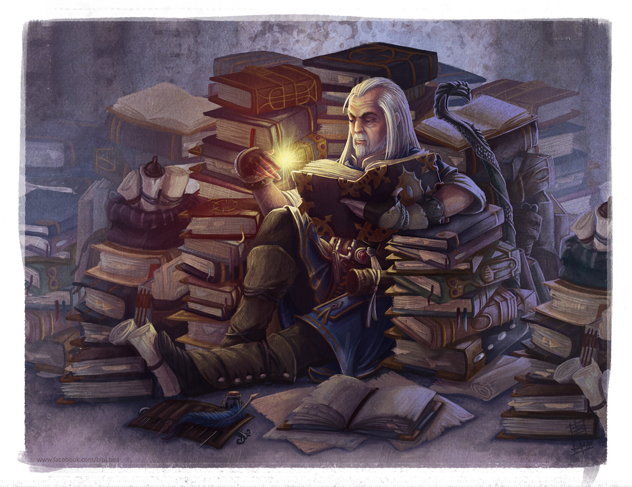 Tons Of Knowledge Ezren From Pathfinder By Bipicado On