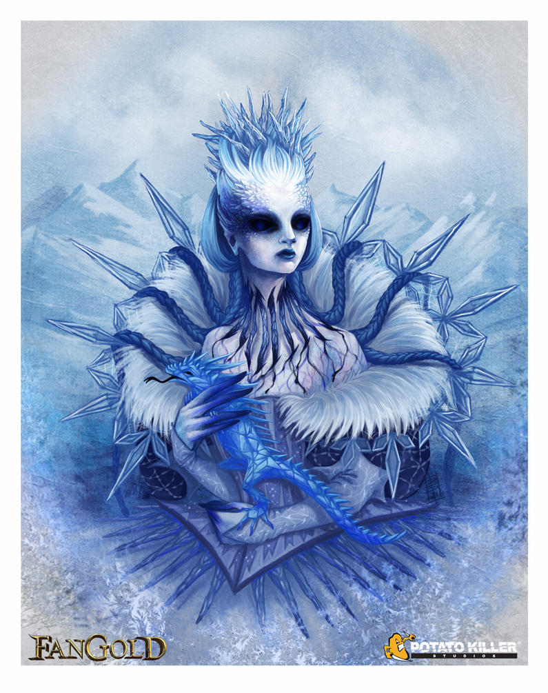 Lady Winter - Fangold TCG Card Art by BiPiCado